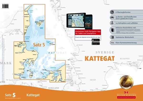 DK Sportbootkartensatz 5 Kattegat