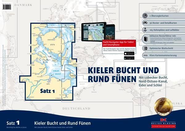 DK Sportbootkartensatz 1 Kieler Bucht und Rund Fünen