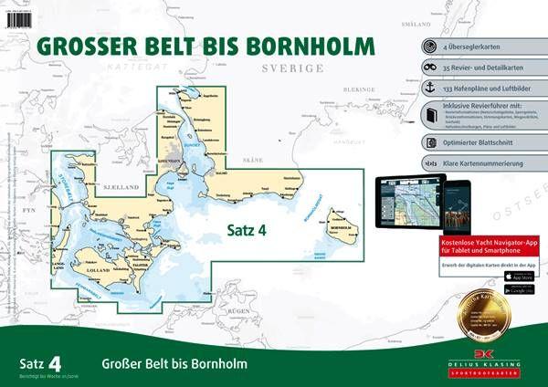 DK Sportbootkartensatz 4 Großer Belt bis Bornholm