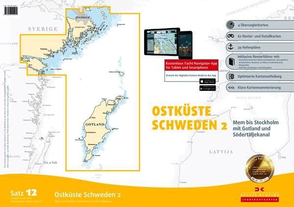 DK Sportbootkartensatz 12 Ostküste Schweden 2