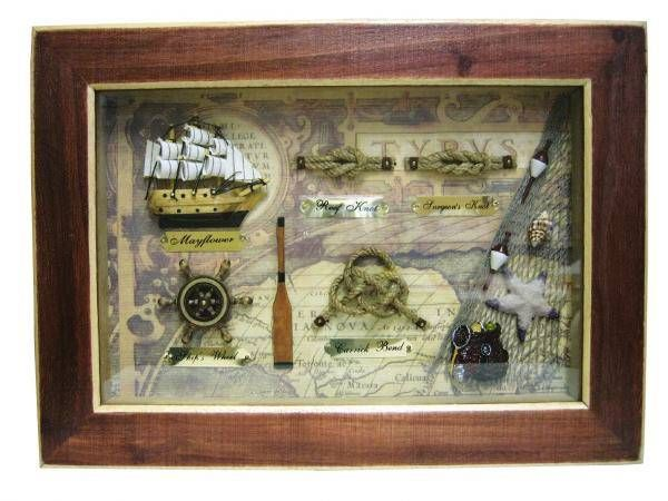 Knotentafel hinter Glas Mayflower