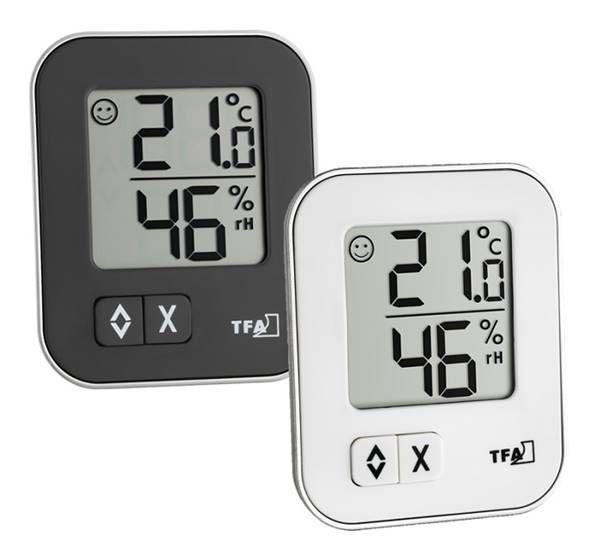 TFA Moxx digitales Thermo-Hygrometer in schwarz und weiß
