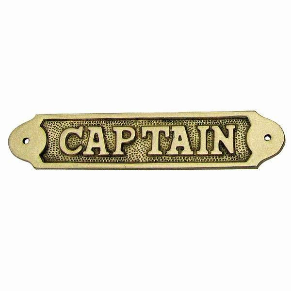 Türschild Captain Messing