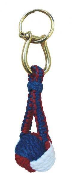 Schlüsselanhänger Affenfaust rot blau weiß