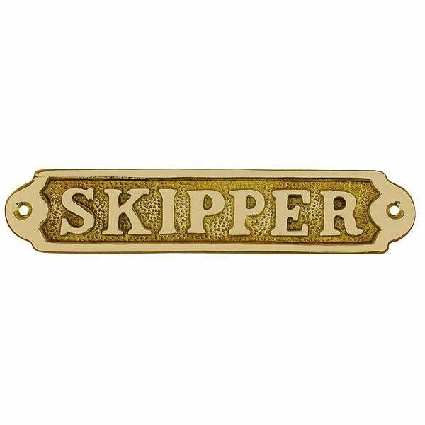 Türschild Skipper Messing