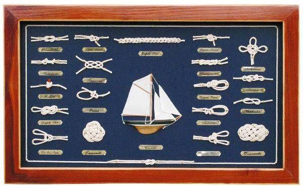 Knotentafel groß Segelschiff