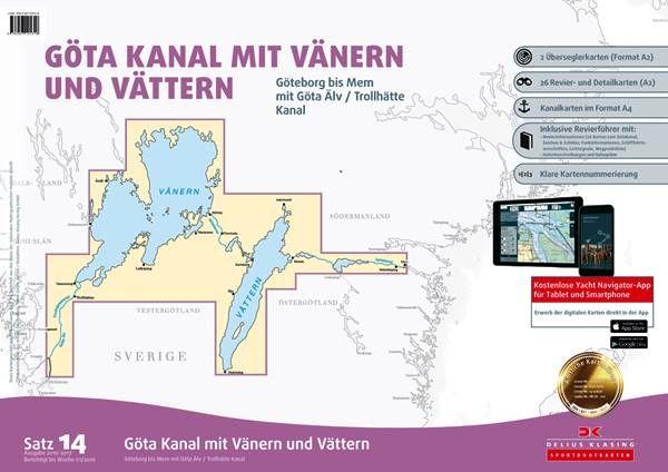 DK Sportbootkartensatz 14 Götakanal mit Vänern und Vättern