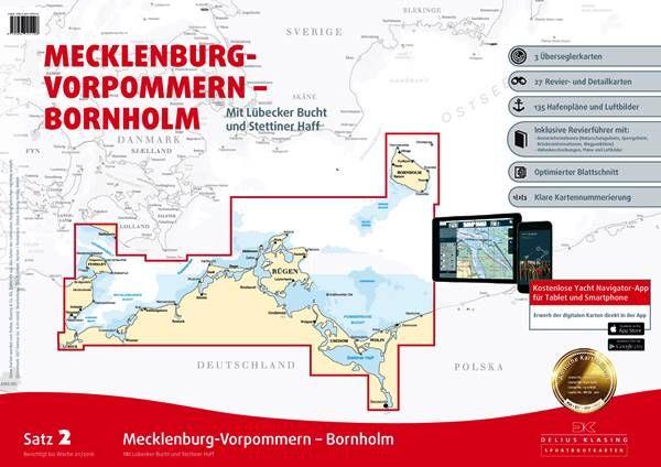 DK Sportbootkartensatz 2 Mecklenburg Vorpommern und Bornholm