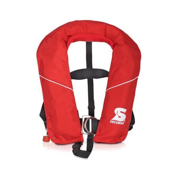 Secumar Automatische Kinder Rettungsweste 20-50kg Arkona Midi Harness 150N rot/weiß