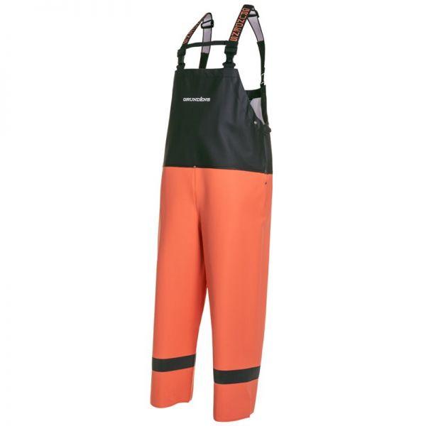 Grundens Balder Regenhose 504 orange/schwarz