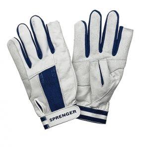 """Ziegenleder Handschuhe 2 Finger geschnitten Logo """"Segelbox"""""""