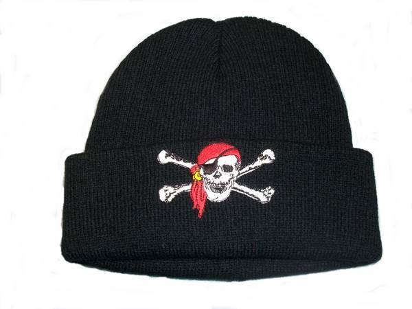 Mütze Pirat schwarz