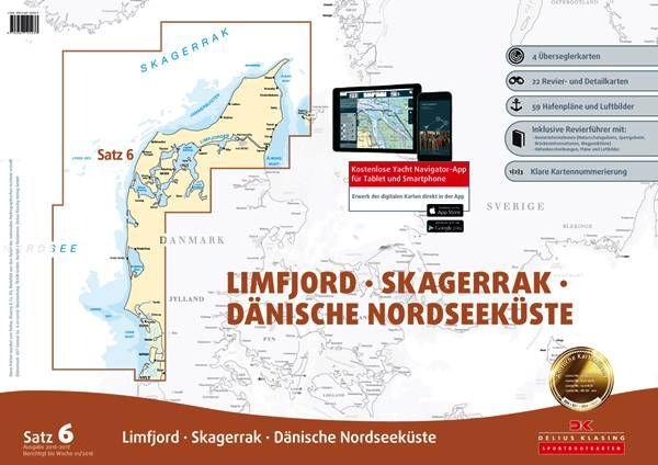 DK Sportbootkartensatz 6 Limfjord Skagerrak Dänische Nordseeküste