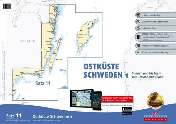 DK Sportbootkartensatz 11 Ostküste Schweden 1