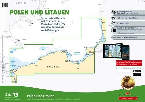 DK Sportbootkartensatz 13 Polen und Litauen
